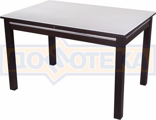 Стол обеденный прямоугольный Бета-1 КМ 04(6) ВН 08ВН венге с белым камнем - фото 4776