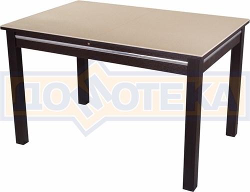Стол обеденный прямоугольный Бета-1 КМ 06(6) ВН 08ВН венге с бежевым камнем - фото 4777