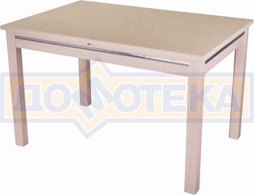 Стол обеденный прямоугольный Бета-1 КМ 06(6) МД 08МД бежевый с бежевым камнем - фото 4778