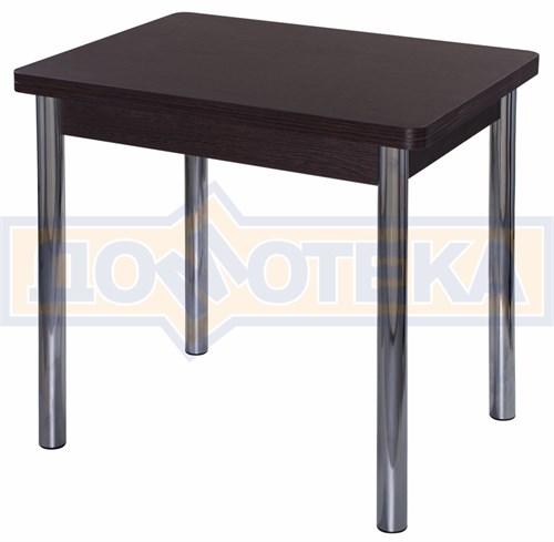 Стол кухонный Дрезден М-2 ВН 02 венге, ножки хром - фото 4833