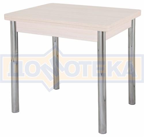Стол кухонный Дрезден М-2 МД 02 молочный дуб, ножки хром - фото 4837
