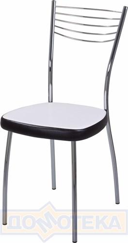 Стул кухонный Омега-1 В-0/В-4 искрящийся белый/черный венге, повышенной комфортности - фото 4883