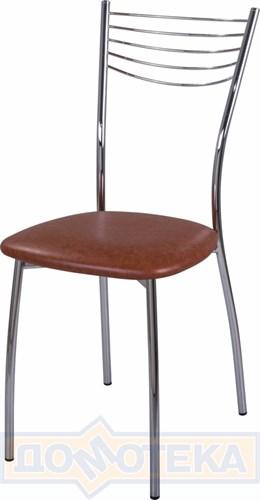 Стул кухонный Омега-1 В-3 коричневый - фото 4888