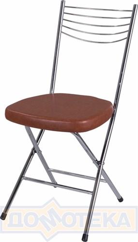 Стул кухонный Омега-1 скл. В-3/В-3 коричневый, повышенной комфортности - фото 4934