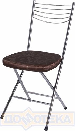Стул кухонный Омега-1 скл. Д-4/Д-4 коричневый (темная бронза) с узором, повышенной комфортности - фото 4944