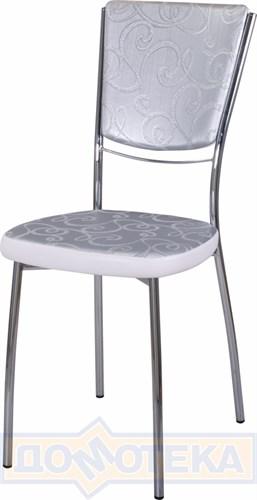Стул кухонный Омега-5 Д-1/В-0 спД-1/В-0 серебристый с узором/искрящийся белый, повышенной комфортности - фото 5106
