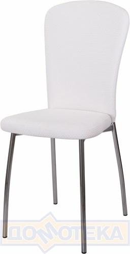 Стул кухонный Палермо F-0/F-0 белый с плетеной текстурой, повышенной комфортности - фото 5116