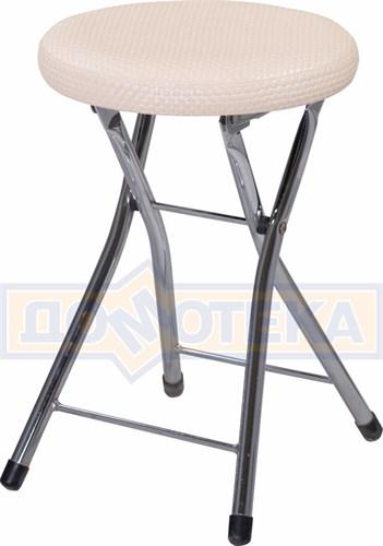 Кухонный табурет Соренто F-1/F-1 светло-бежевый с плетеной текстурой, повышенной комфортности - фото 5219
