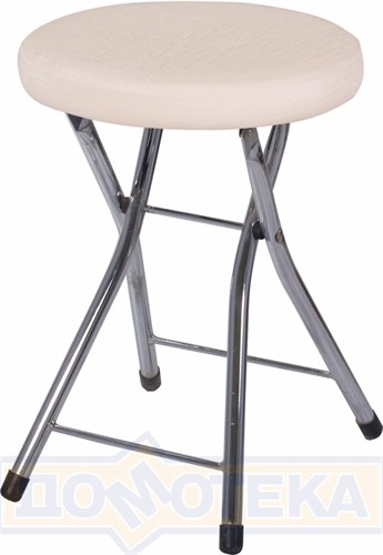 Кухонный табурет Соренто А-1/А-1 светло-бежеый с эффектом замши, повышенной комфортности - фото 5226