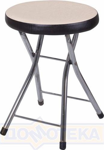 Кухонный табурет Соренто А-1/В-4 светло-бежеый с эффектом замши/венге, повышенной комфортности - фото 5227