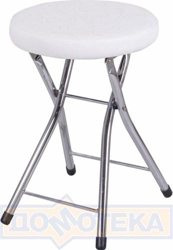 Кухонный табурет Соренто Д-0/Д-0 белый с узором, повышенной комфортности - фото 5244