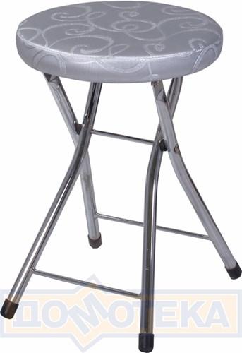 Кухонный табурет Соренто Д-1/Д-1 серебристый с узором, повышенной комфортности - фото 5247