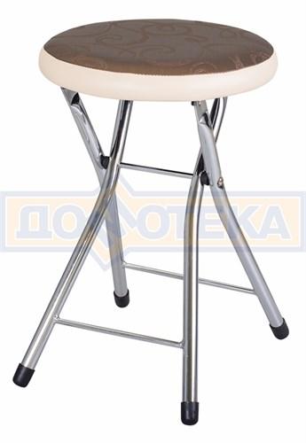 Кухонный табурет Соренто Д-4/В-1 коричневый (темная бронза) с узором/бежевый, повышенной комфортности - фото 5252