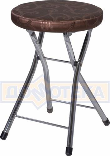 Кухонный табурет Соренто Д-4/Д-4 коричневый (темная бронза) с узором, повышенной комфортности - фото 5253