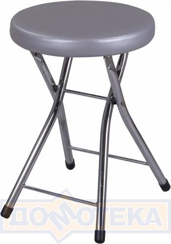 Кухонный табурет Соренто С-1/С-1 серебристый, повышенной комфортности - фото 5255