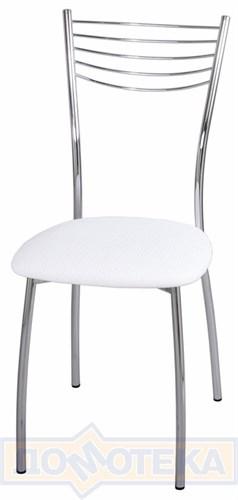 Стул кухонный Омега-1 F-0 белый с плетеной текстурой - фото 5465