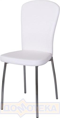 Стул кухонный Палермо А0/А0, белый с эффектом замши/повышенной комфортности - фото 6078