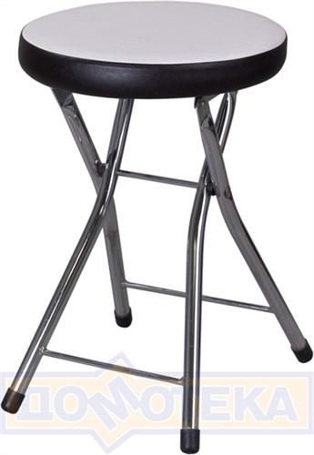 Кухонный табурет Соренто А0/В4, белый с эффектом замши/темный венге, повышенной комфортности - фото 6081