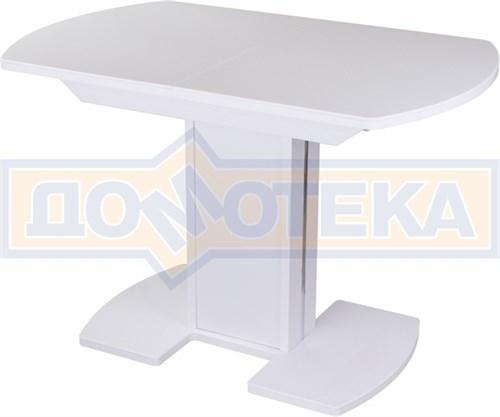 Стол с камнем - Румба ПО-1 КМ 04 БЛ 05-1 БЛ/БЛ КМ 04 ,белый - фото 6215