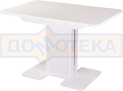 Стол с камнем - Румба ПР-1 КМ 04 БЛ 05-1 БЛ/БЛ КМ 04 ,белый - фото 6247