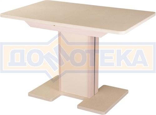 Стол с камнем - Румба ПР-1 КМ 06 МД 05-1 МД/КР КМ 06 ,молочный дуб - фото 6259