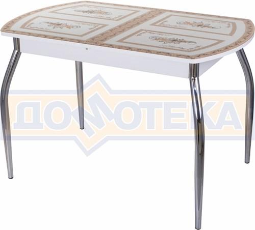Стол со стеклом - Танго ПО БЛ ст-72 01 ,белый - фото 6265