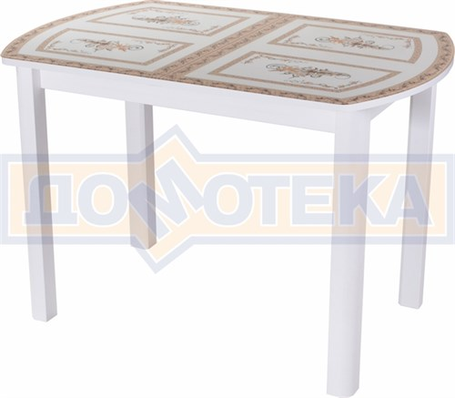 Стол со стеклом - Танго ПО БЛ ст-72 04 БЛ ,белый - фото 6267