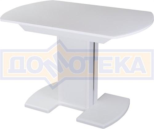 Стол со стеклом - Танго ПО БЛ ст-БЛ 05 БЛ/БЛ ,белый - фото 6273