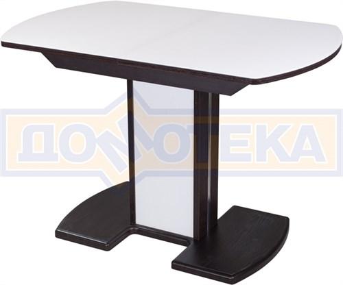 Стол со стеклом - Танго ПО ВН ст-БЛ 05 ВН/БЛ ,венге - фото 6288