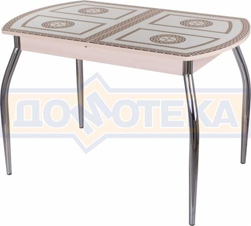 Стол со стеклом - Танго ПО МД ст-71 01 ,молочный дуб - фото 6291