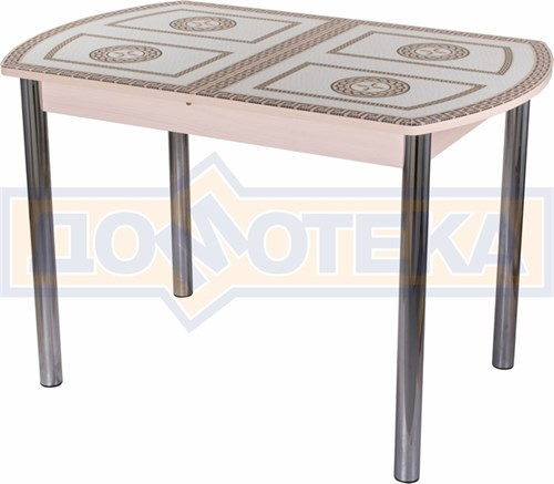 Стол со стеклом - Танго ПО МД ст-71 02 ,молочный дуб - фото 6292