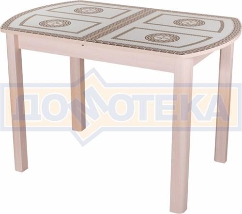 Стол со стеклом - Танго ПО МД ст-71 04 МД ,молочный дуб - фото 6293
