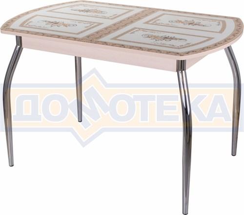Стол со стеклом - Танго ПО МД ст-72 01 ,молочный дуб - фото 6294