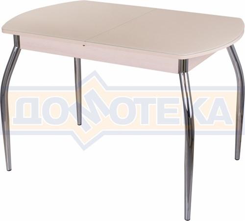 Стол со стеклом - Танго ПО МД ст-КР 01 ,молочный дуб - фото 6297