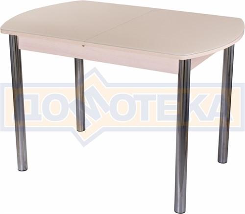 Стол со стеклом - Танго ПО МД ст-КР 02 ,молочный дуб - фото 6298