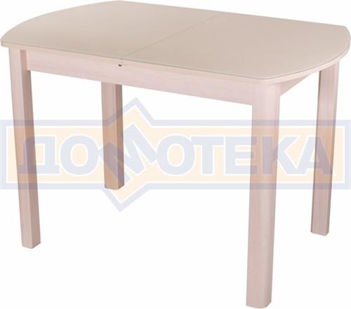 Стол со стеклом - Танго ПО МД ст-КР 04 МД ,молочный дуб - фото 6299