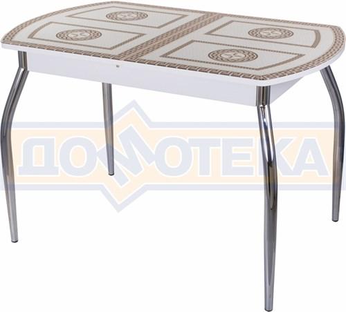 Стол со стеклом - Танго ПО-1 БЛ ст-71 01 ,белый - фото 6300