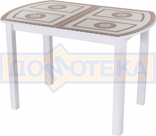 Стол со стеклом - Танго ПО-1 БЛ ст-71 04 ВЛ ,белый - фото 6302