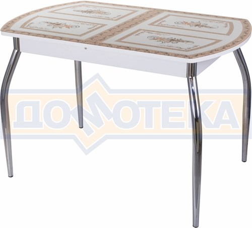 Стол со стеклом - Танго ПО-1 БЛ ст-72 01 ,белый - фото 6305