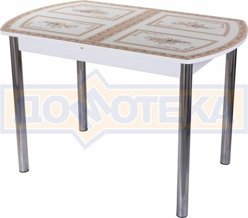 Стол со стеклом - Танго ПО-1 БЛ ст-72 02 ,белый - фото 6306