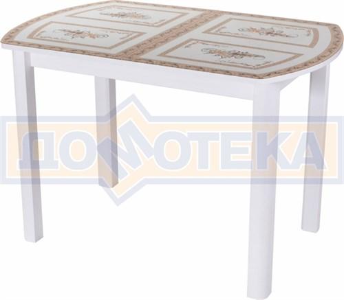 Стол со стеклом - Танго ПО-1 БЛ ст-72 04 БЛ ,белый - фото 6307