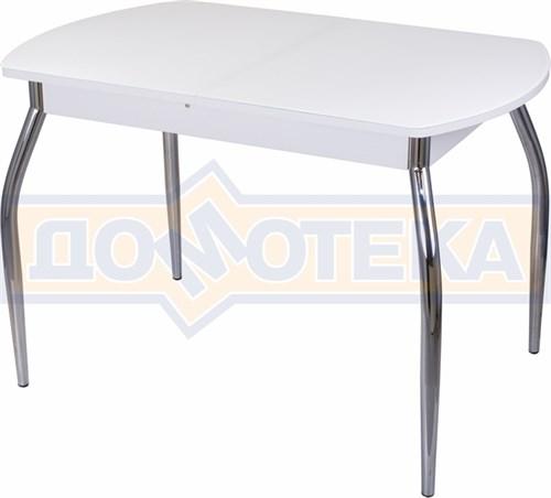 Стол со стеклом - Танго ПО-1 БЛ ст-БЛ 01 ,белый - фото 6310