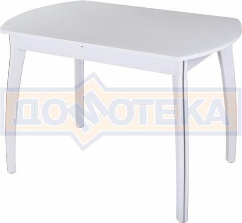 Стол со стеклом - Танго ПО-1 БЛ ст-БЛ 07 ВП БЛ ,белый - фото 6314