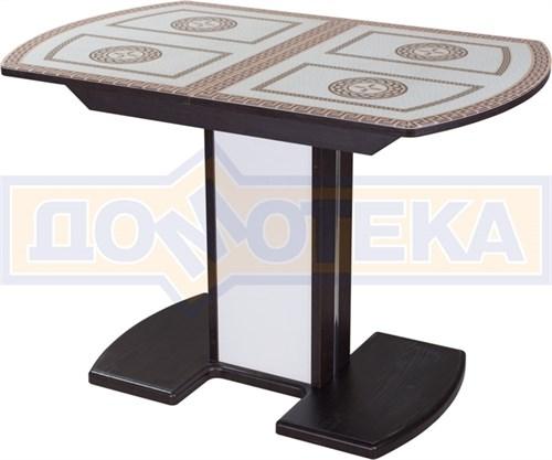 Стол со стеклом - Танго ПО-1 ВН ст-71 05-1 ВН/БЛ ,венге - фото 6318