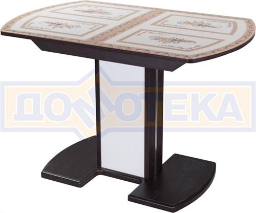 Стол со стеклом - Танго ПО-1 ВН ст-72 05-1 ВН/БЛ ,венге - фото 6323