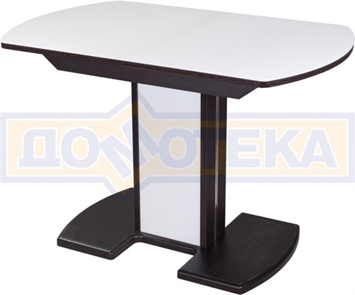 Стол со стеклом - Танго ПО-1 ВН ст-БЛ 05-1 ВН/БЛ ,венге - фото 6328