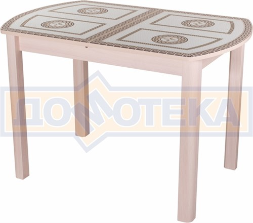 Стол со стеклом - Танго ПО-1 МД ст-71 04 МД ,молочный дуб - фото 6333