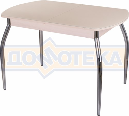 Стол со стеклом - Танго ПО-1 МД ст-КР 01 ,молочный дуб - фото 6337