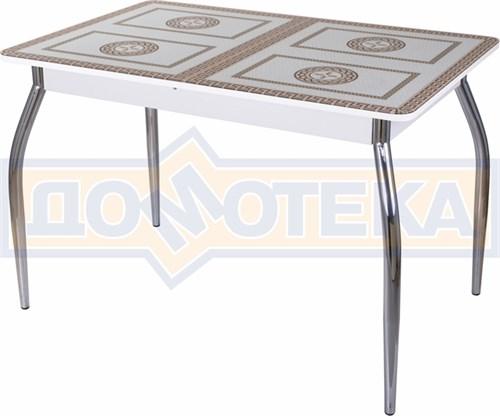 Стол со стеклом - Танго ПР БЛ ст-71 01 ,белый - фото 6340