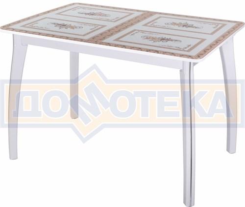 Стол со стеклом - Танго ПР БЛ ст-72 07 ВП БЛ ,белый - фото 6347